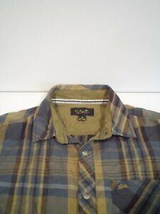 A. Tiziano Mens Twill Shirt Size Medium Plaid Green Button Up Urban Clothing Top