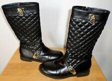 Michael Kors Emma Leena 2 Boots Girls Sz 4 Black Quilted
