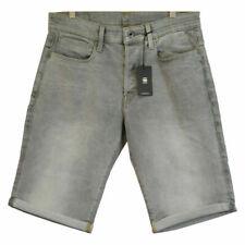 G-Star RAW Men's 3301 Straight Light Aged Grey Denim Shorts (Retail $120)