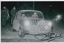 Paddy Hopkirk Hand Signed 12x8 Photo Mini Cooper Rally 3.