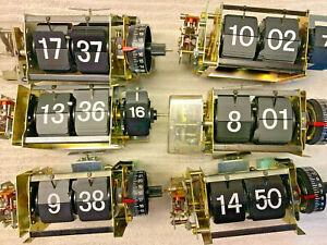 BRAUN Design Wecker Klappzahlen-Uhrwerke phase 1 + Gehäuse phase 2 1971 + 1972