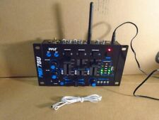Pyle Pmx7Bu Bluetooth 3-Channel Dj Mp3 Mixer Rca Usb Mic & Headphone Input