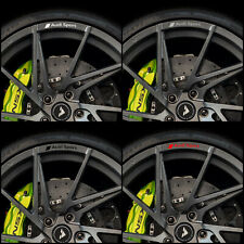 AUDI SPORT Motorsport Rims Alloy Wheels Decal Curved Stickers S Line RS - 8 unit