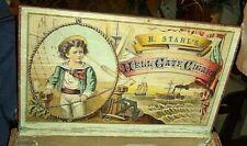 rare antique graphic Hell Gate wood cigar box