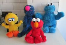 SESAME STREET LARGE COOKIE MONSTER BIG BIRD GROVER TALKING ELMO PLUSH SOFT TOYS