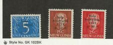 Netherlands New Guinea, Postage Stamp, #B1-B3 Mint NH, 1953, JFZ