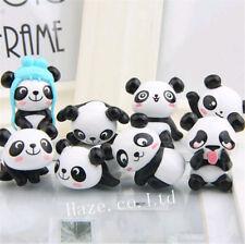 8pcs/Set Panda Figure Figurine Model Toys Collection Kids Toys Home Car Decor