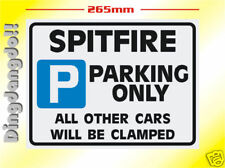 Spitfire Triumph Parking Sign Novelty Gift