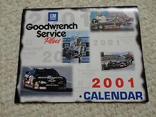 2001 GM GOOD WRENCH SERVICE PLUS CALENDAR EARNHARDT WARREN JOHNSON NASCAR NHRA