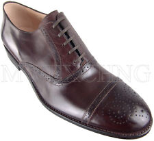 CALZOLERIA ZENOBI GOODYEAR WELT BROGUE OXFORDS EU 43 ITALIAN DESIGNER MENS SHOES