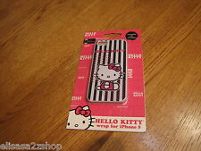 Hello Kitty wrap case iphone 5 pink black white slip on Spectra KT4489 NEW RARE