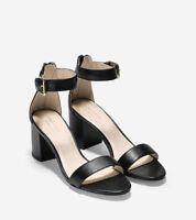 Cole Haan Clarette II Block Heel Sandal in Black Leather Size 7 EUC wore once