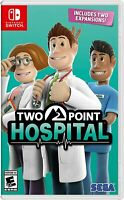 Two Point Hospital [Nintendo Switch, NTSC, Simulation Sega Fun, Building] NEW