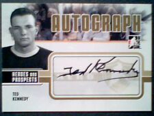 TED KENNEDY  09/10 AUTHENTIC HEROES TORONTO MAPLE LEAFS LEGEND AUTOGRAPH  SP