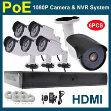 Anbvision 6PCS 1080P 2MP CCTV PoE IP Network Outdoor Camera 8CH HDMI NVR SYSTEM