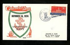 US Naval Ship Cover USS Horne DLG-30 Vietnam War 10/14/1974 Columbus Day