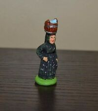 Santons Marcel Carbonel Corsican Woman with Bucket Size #1 Village Figurine
