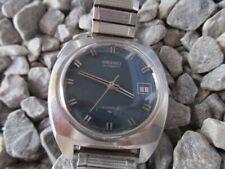 SEIKO Vintage Automatic 7005-8040 blau Edelstahl Date 38 mm 70er 1970s