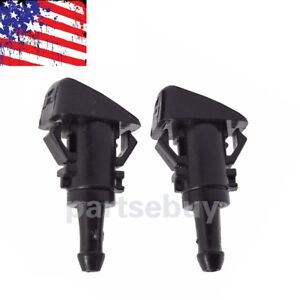 2 Windshield Washer Water Spray Nozzle For Chrysler 300 Dodge Ram Magnum Charger