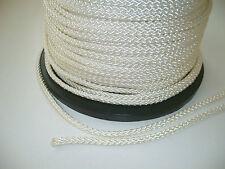 1 m Seil für Fahnenmast (Hissseil) Polyesterkordel 5 mm, weiß, Flaggenseil