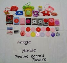 Vintage Barbie Doll Record Players Radios Telephone Accessories