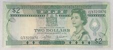 1980's Fiji  Two Dollar Banknote. 2$