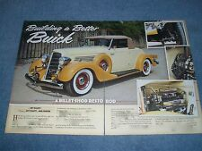 """1935 Buick 56-C Cabriolet Resto Rod Article """"Building A Better Buick"""""""