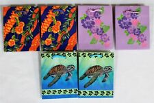 "Mini Hawaiian Theme Gift Bag 4"" X 3"" 1.5"" Jewelry Treat Party Sacks 6 Tote Bags"