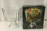 Elegance Dessert Trifle Bowl Indiana Glass Footed discontinued pattern orig. box