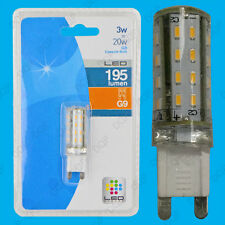 4x 3W G9 SMD LED Capsule, Ultra Low Energy Halogen Replacement Light Bulb Lamp