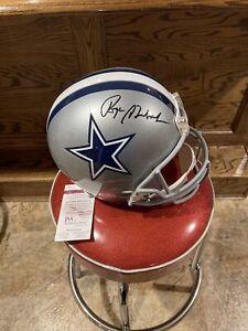 🔥Roger Staubach Signed Full Size Dallas Cowboys Helmet With JSA COA🔥