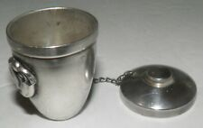 Georg Jensen Inc Unique 925 Sterling Silver Transforming Cup & Lidded Pillbox