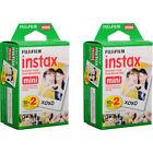 Fujifilm Instax Mini Instant Film, 2 Twin Pack (40 Prints) for Fuji 11 9 8 70s