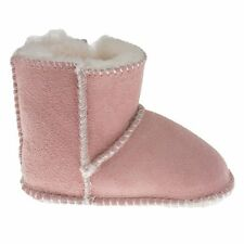 Minnetonka Girls Toddler Moccasins Pink Pug Shearling Lined Boots size 5 ns8/10