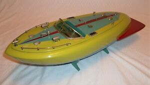 ITO Miss Nippon Wooden Battery Operated Toy Speed Boat Working Condition My Copy