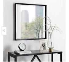 Calter Square Black Plastic Wall Mirror