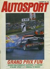AUTOSPORT DEC 10th 1987 * F3 STAGIONE REVIEW *