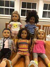 American Girl Doll Lot of Five Truly Me Dolls Excellent Condition
