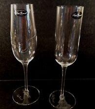 NEW Set of 2 Luigi Bormioli Accademia Champagne Flutes