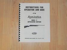 Remington Model 11 Shotgun Operation and Care Manual Manual - #91