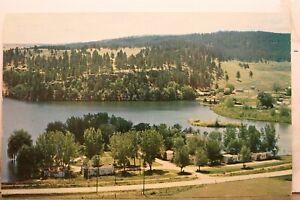 South Dakota SD Rapids City Ox Yoke Motel Lake Canyon Lake Road Postcard Old PC