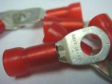 """(10) T&B RD8-516 RD727 #8 NAVY 14-23 INSUL RING TERMINAL LUG 5/16"""" RED 105°"""
