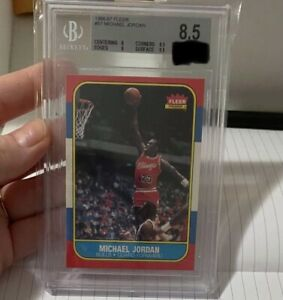 1986-87 Fleer Basketball #57 Michael Jordan RC Rookie HOF BGS 8.5 (8,9,8.5,9.5)