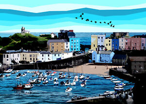 Tenby Wales 2 Limited Print By Sarah Jane Holt