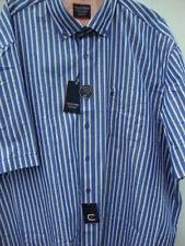 Camicie casual e maglie da uomo blu a righe in cotone