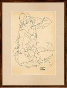 @@@ 2x EGON SCHIELE @@@ GREAT INK !!!