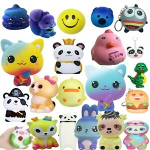 Squeeze Stress Relief Toy Slow Rising Scented Charms Cute Kids Reliever Gift Lot