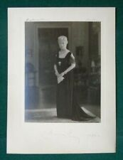 Antique Royal Presentation Photo Signed Queen Mary Mourning Grand Duchess Tiara