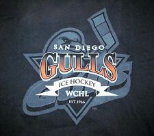 San Diego Gulls Ice Hockey - Wchl Older Black cotton t-shirt Adult Men's Large L