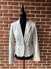 Tape Measure Anthropologie Mint Green Pinstripe Blazer Jacket Size 6 NWT Lined
